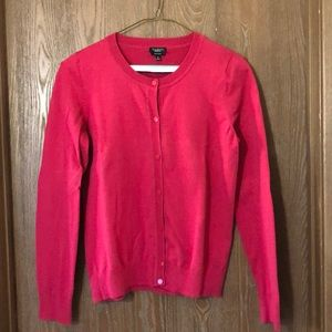 Talbots red cardigan sweater